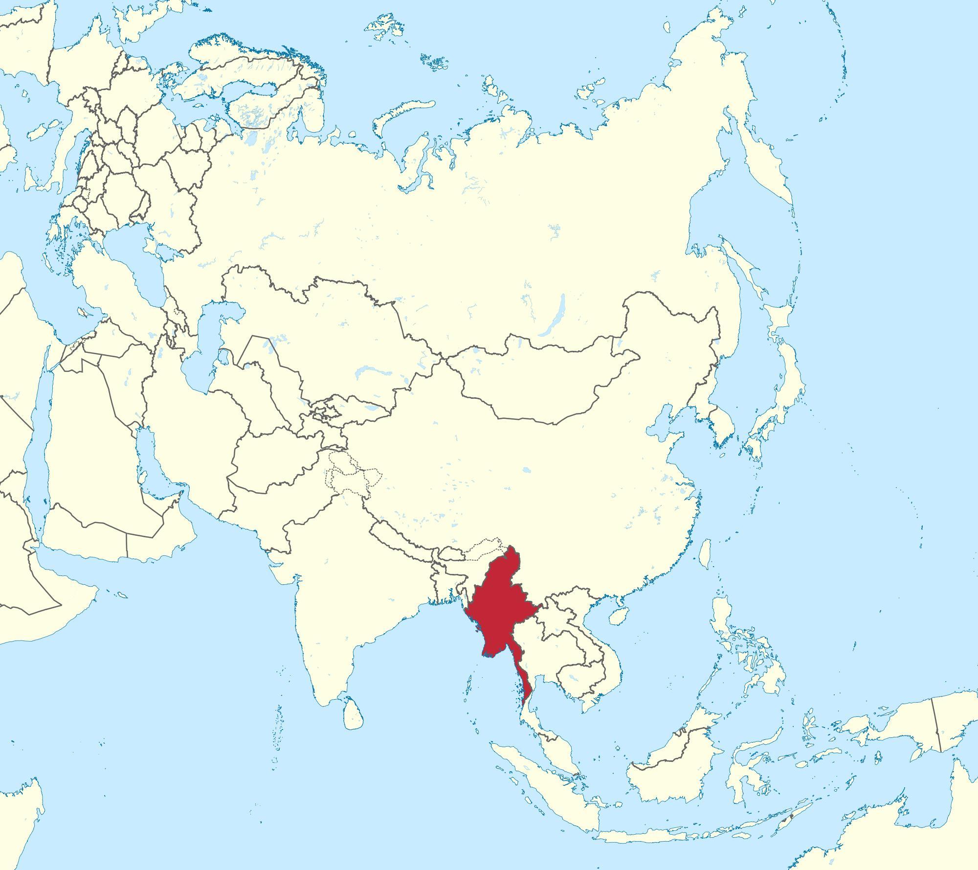 Nouvel La birmanie dans la carte du monde la carte du Monde du Myanmar PY-42