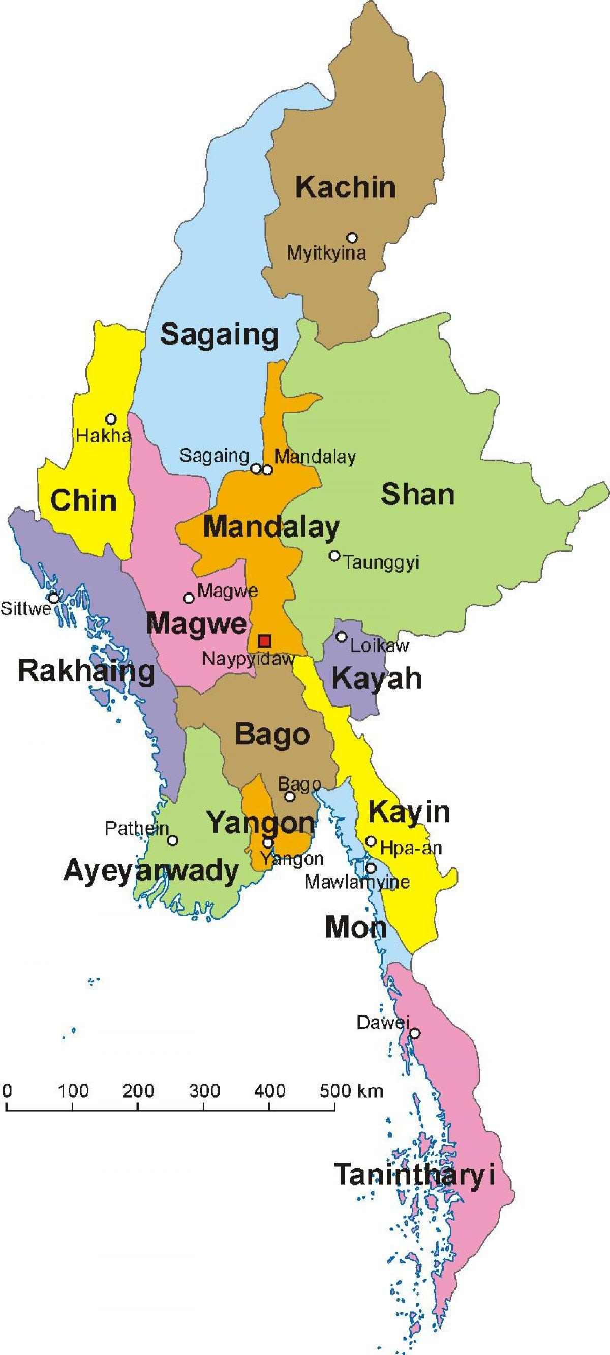 Myanmar carte photo