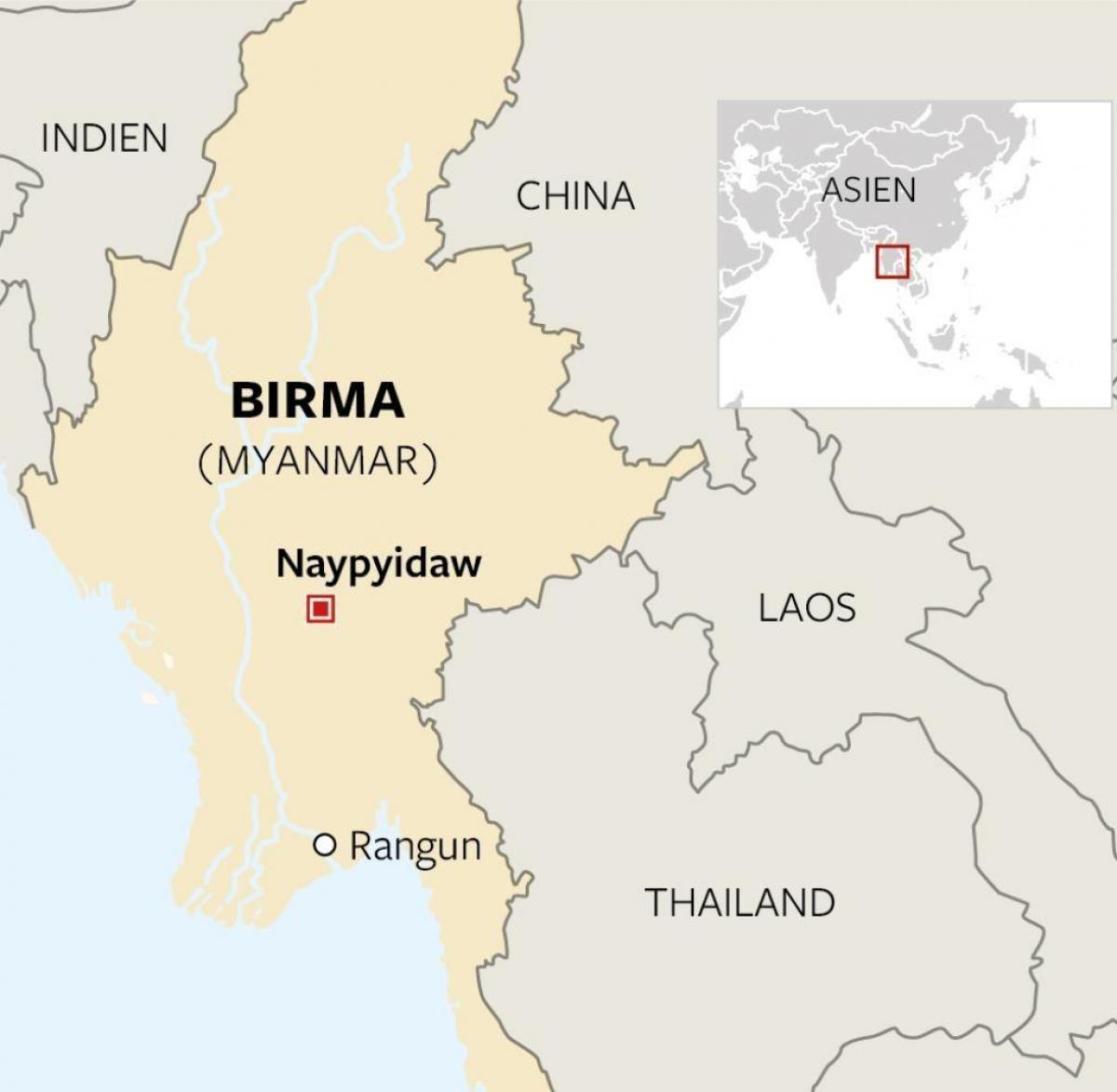 Carte Du Monde Laos.La Birmanie Localisation Sur Une Carte Du Monde Localiser Le